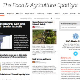 On The Radar: The FAO's Food & Agriculture Spotlight
